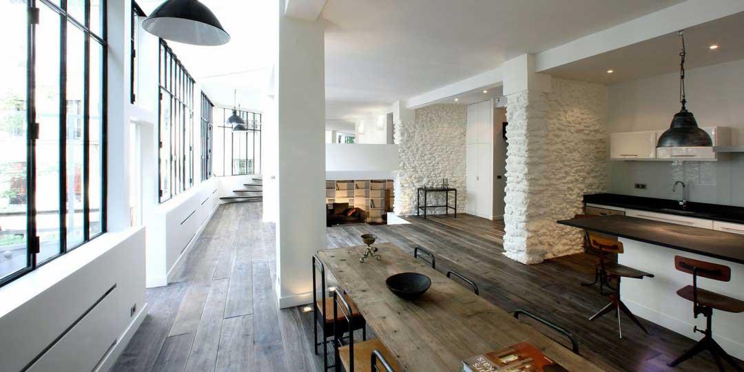 Loft avec verrières à Montmartre