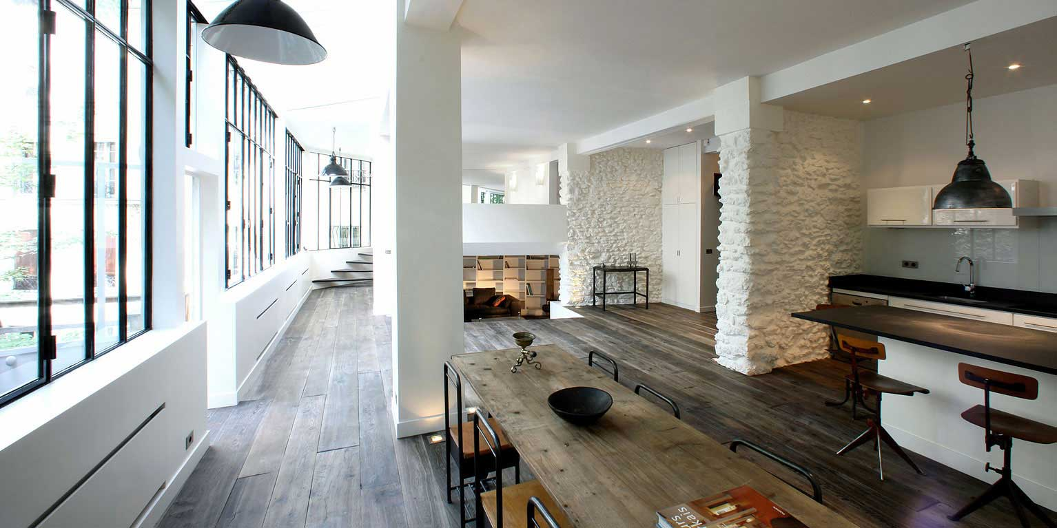Loft montmartre par 2design for Surface atypique paris