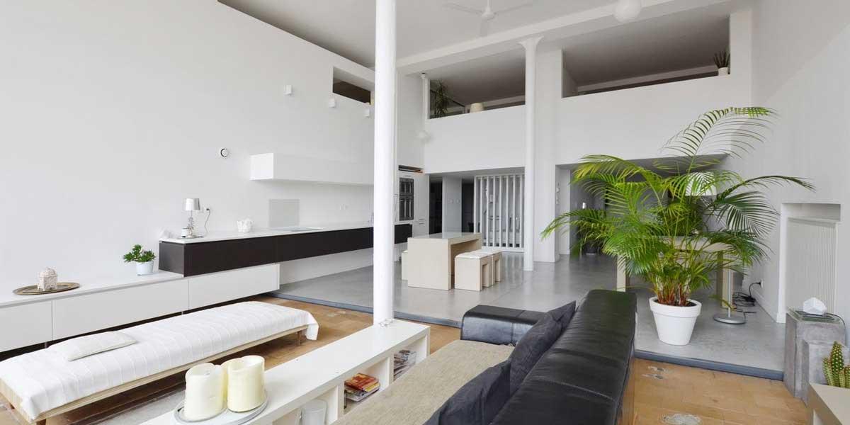Idée d'aménagement pour un loft en longueur