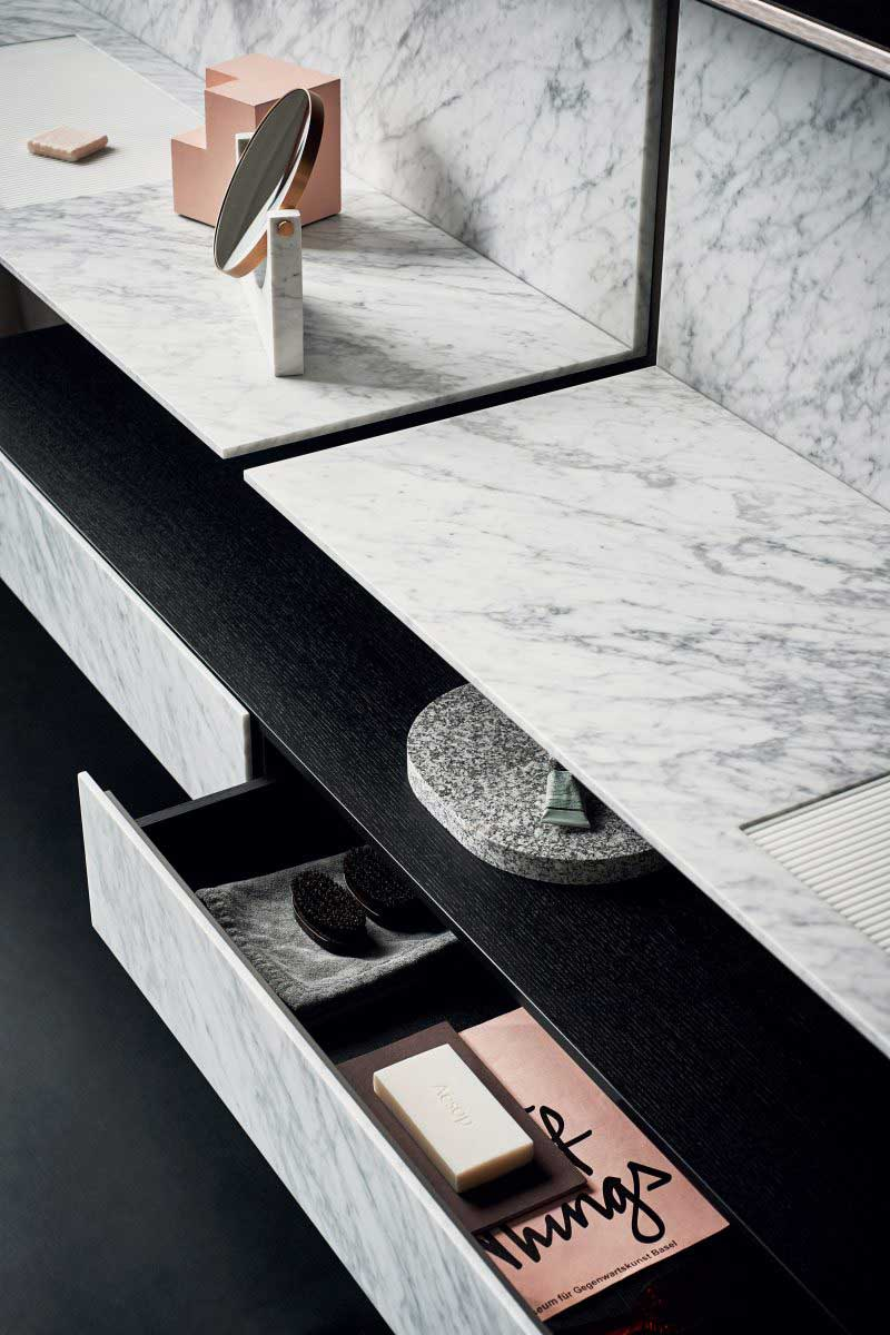 Salles de bains marbre blanc