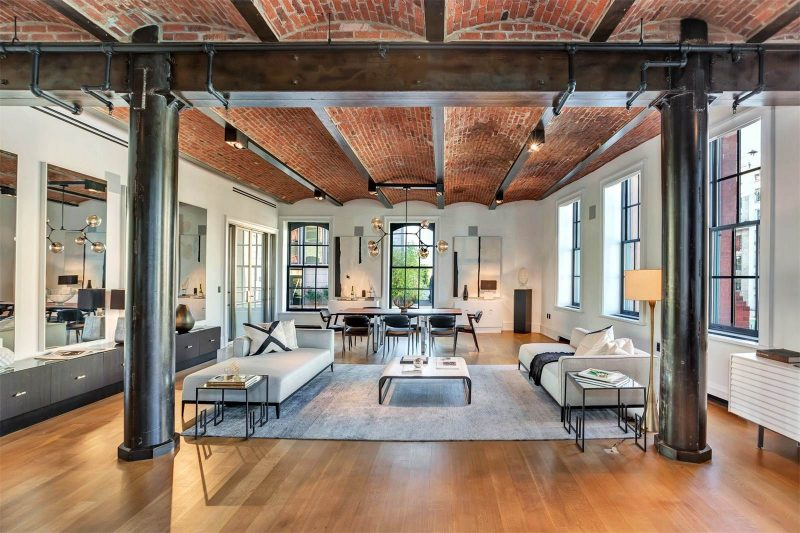 loft dans le puck building new york. Black Bedroom Furniture Sets. Home Design Ideas