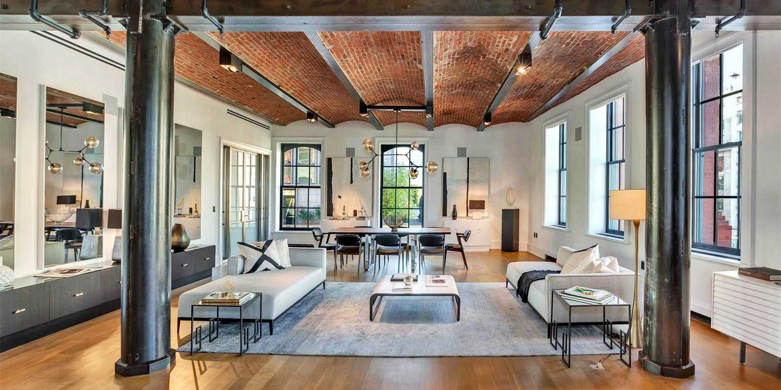 Loft dans le puck building new york for Plan de loft moderne