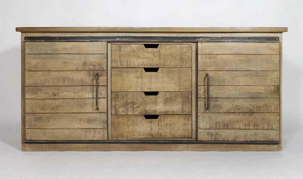 buffet industriel en bois. Black Bedroom Furniture Sets. Home Design Ideas