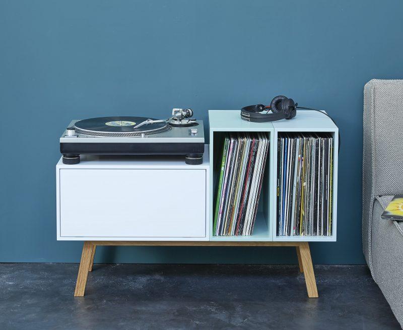 Meuble rangement vinyls Cubit