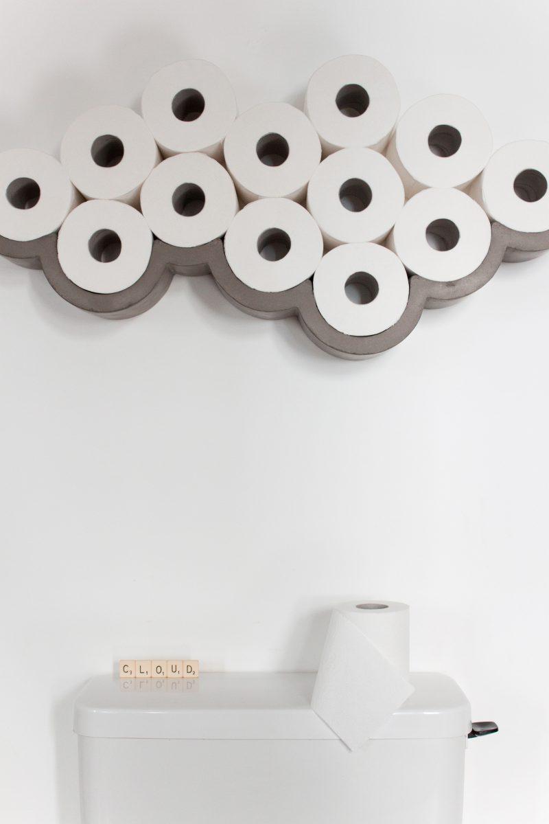 Porte papier toilette original en béton