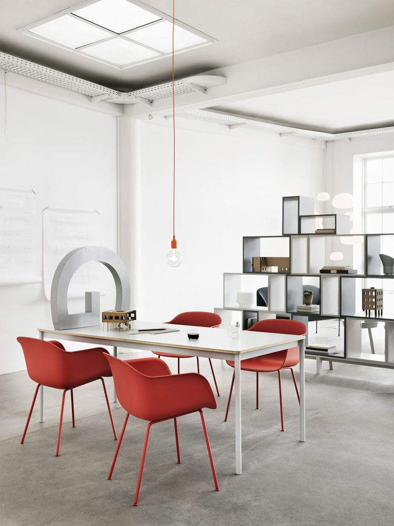 Suspension Muuto E27 rouge