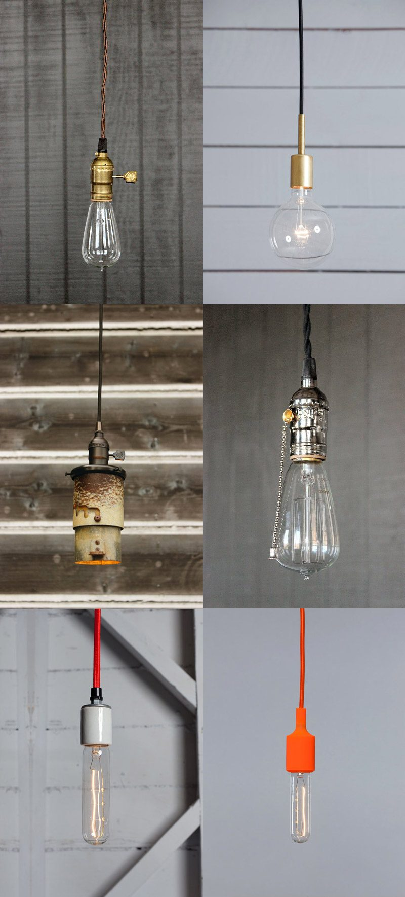 Suspension Ampoule sur Etsy