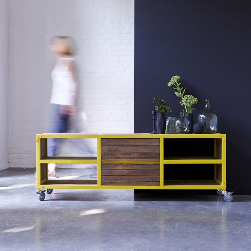 Meuble TV Karpenter jaune