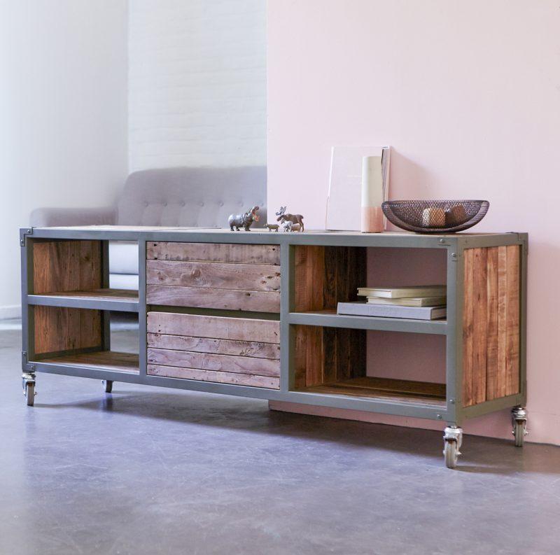 Meuble TV Karpenter gris