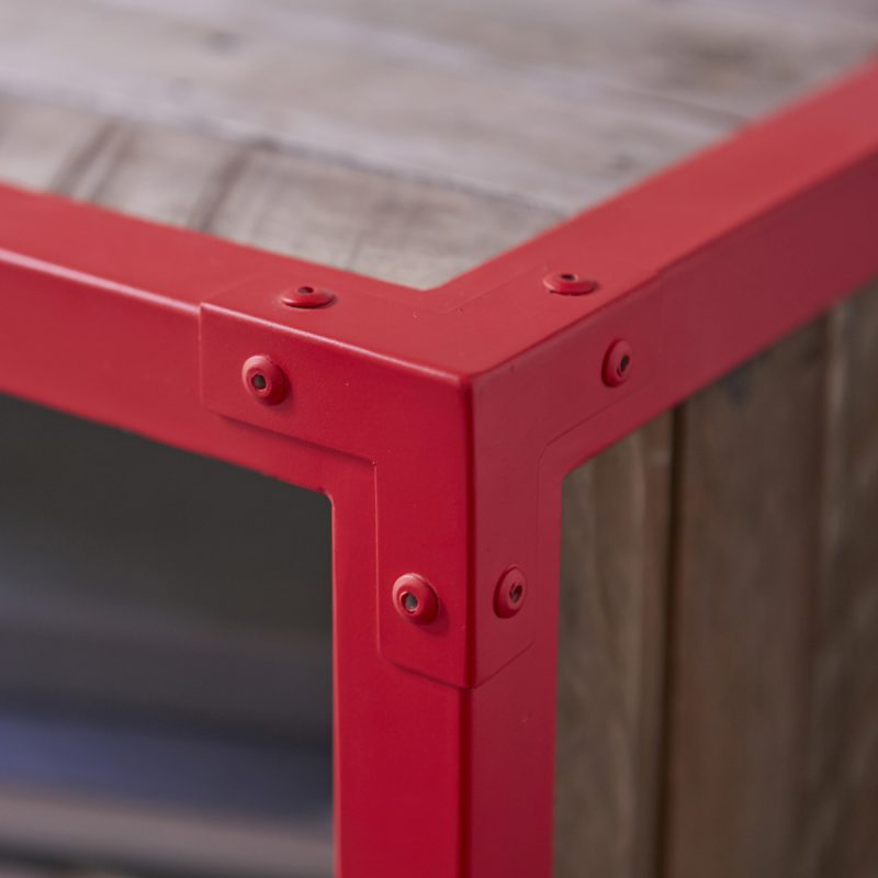 Meuble TV Karpenter rouge
