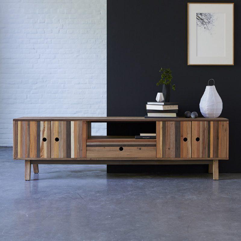 Meuble TV en bois recyclé Karpenter