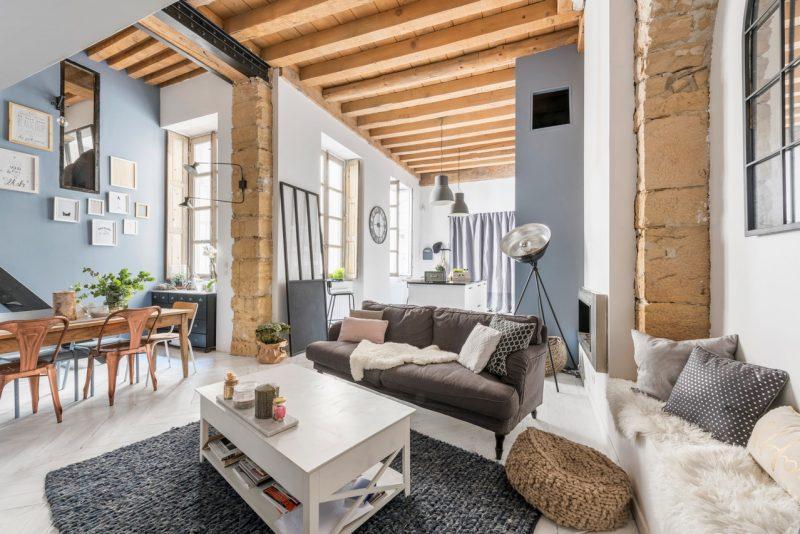 atelier de canut transform en loft - Table Atelier Loft