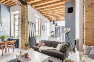 Atelier de canut transformé en loft à Lyon