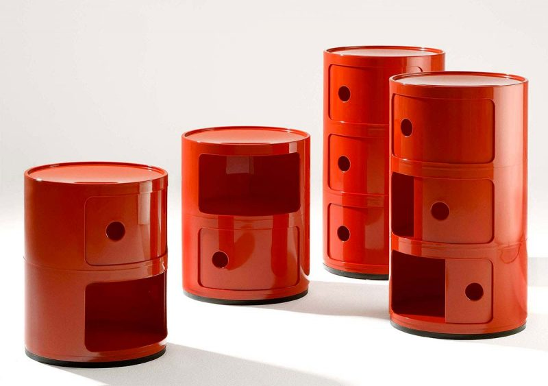 Chevet Componibili Kartell rouge