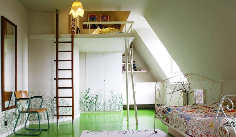 Superbe Lit Mezzanine Dans Une Chambre Du0027enfant Design