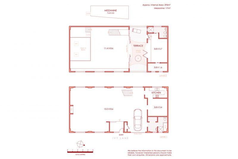 Plan d'un loft dans un ancien entrepôt