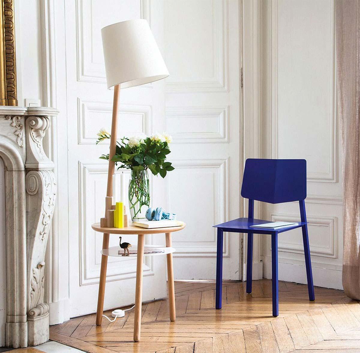 table de chevet harto avec lampe integr e. Black Bedroom Furniture Sets. Home Design Ideas