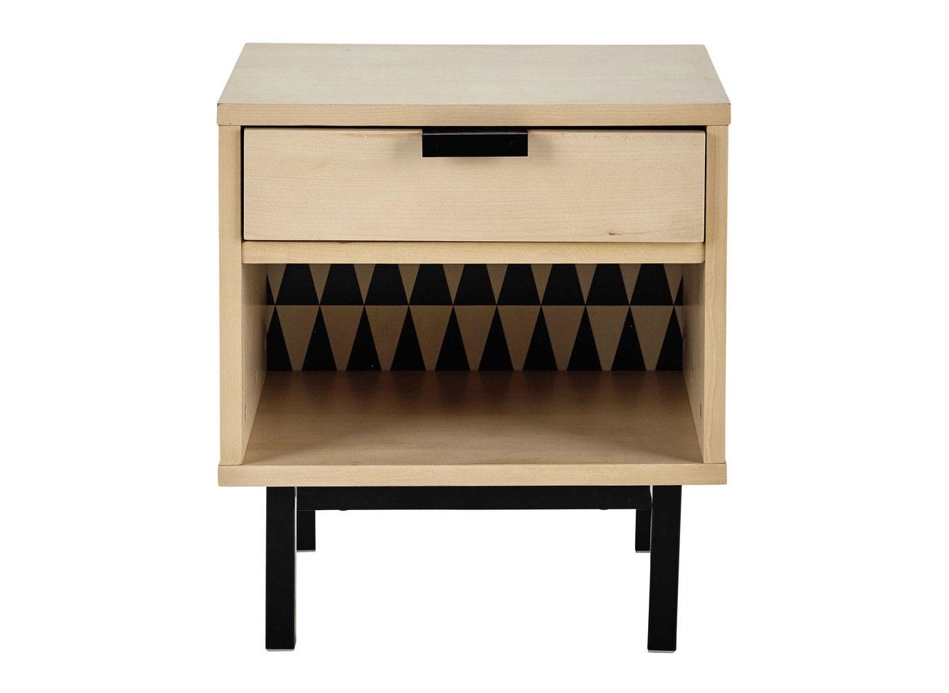 table de chevet avec tiroir. Black Bedroom Furniture Sets. Home Design Ideas