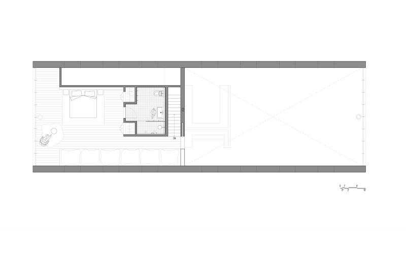 Plan de la maison esprit loft