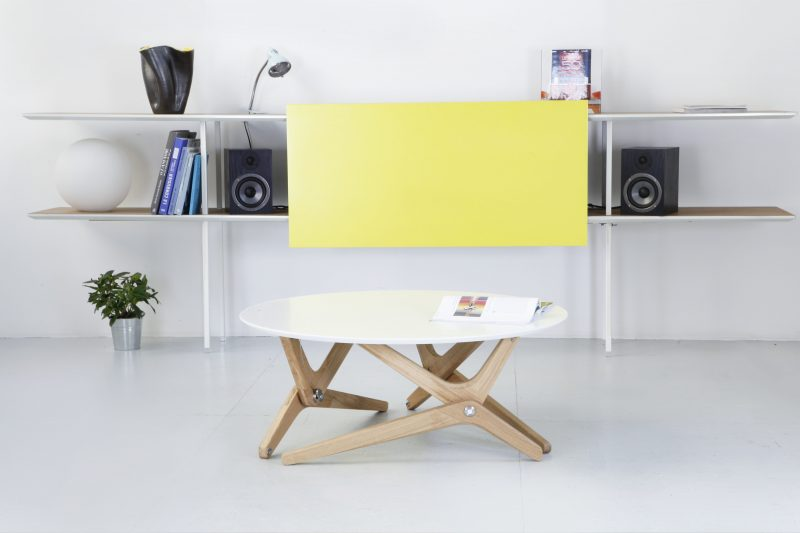 Table modulable Boulon Blanc