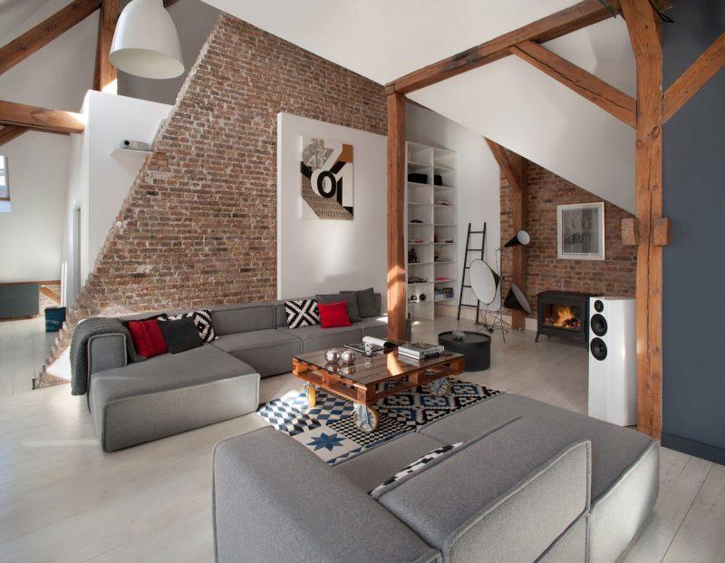 Moderne Avec Murs En Briques
