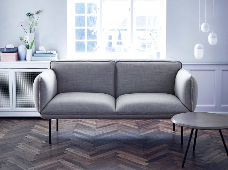 Canapé design gris Woud