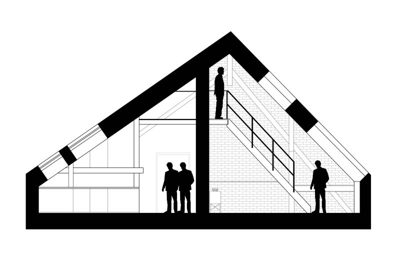 Plan d'aménagement d'un grenier en loft