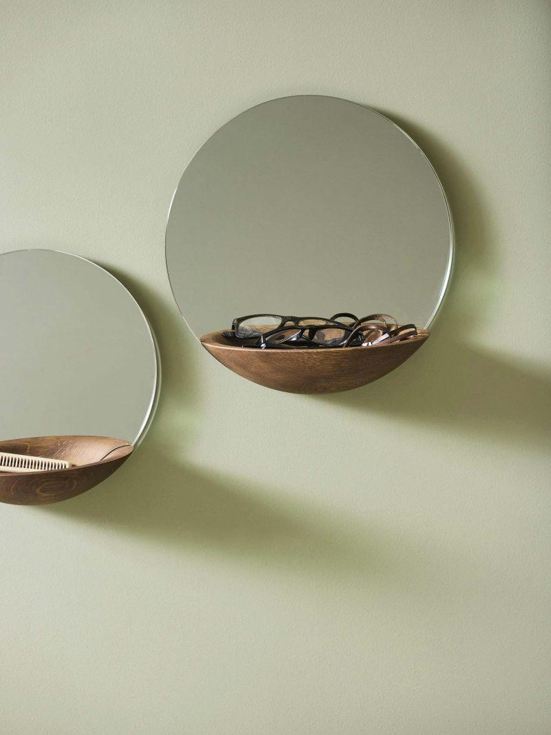 Miroir avec rangement Woud