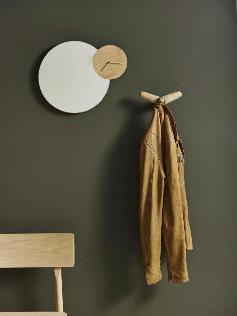 Miroir avec horloge Woud