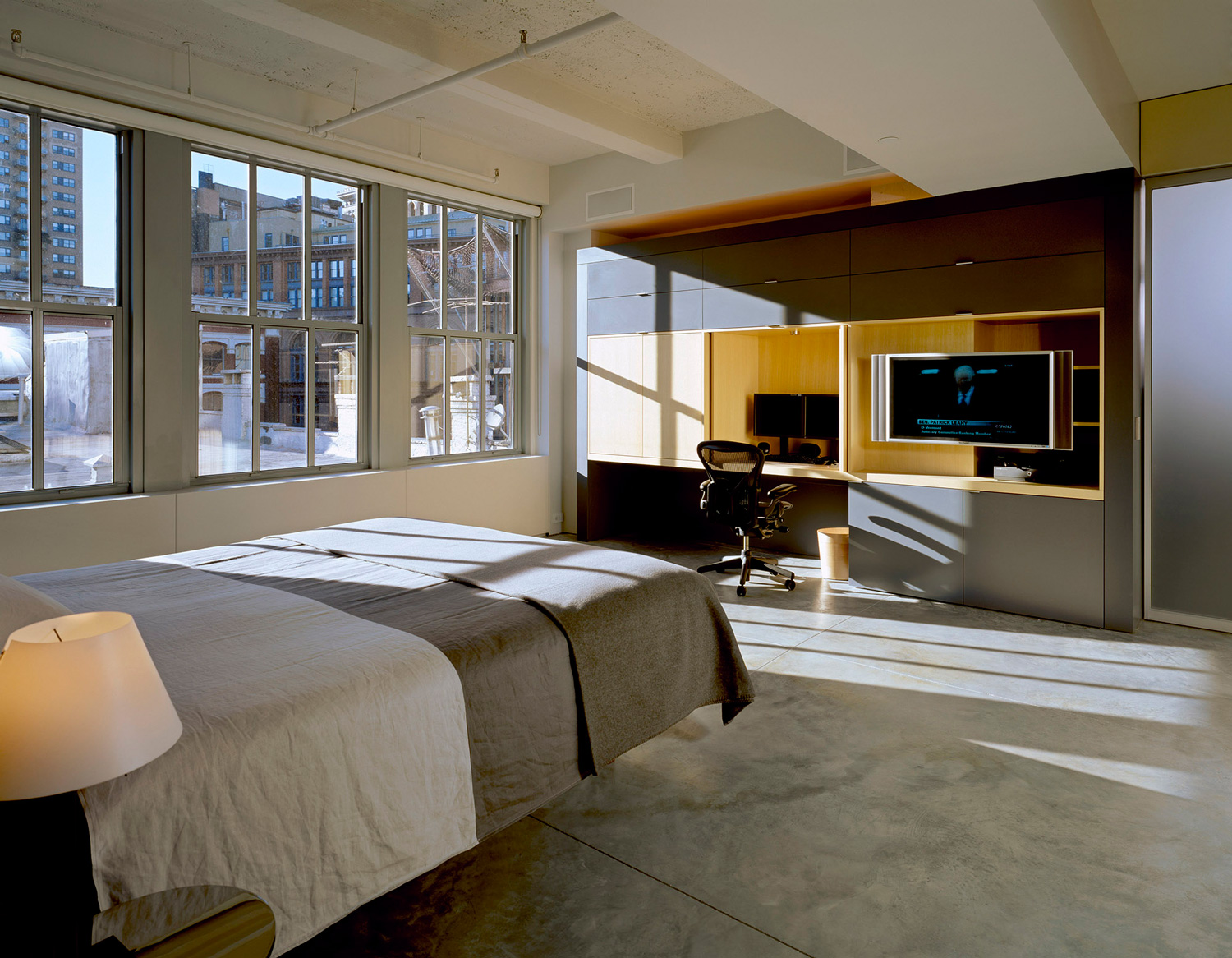 Chambre couher du loft for Interieur loft new york