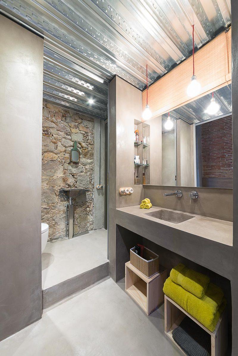 Mobilier de salle de bains en béton