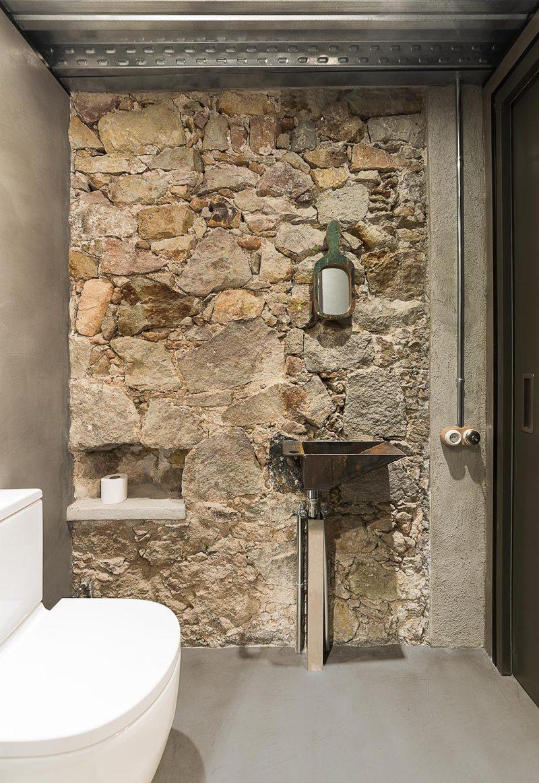 Mur en pierre dans un loft