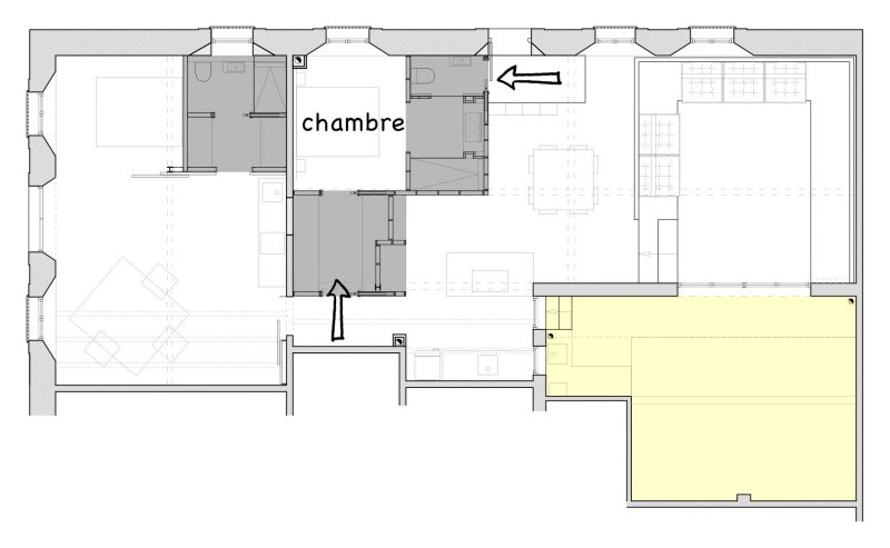 Plan suite parentale du loft