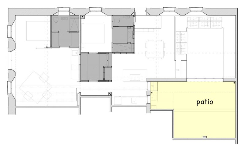 Plan du pation du loft