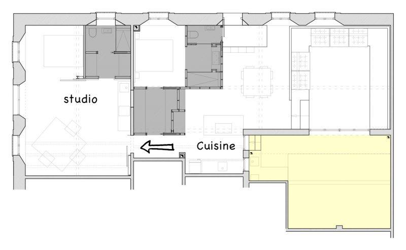 Plan du studio du loft