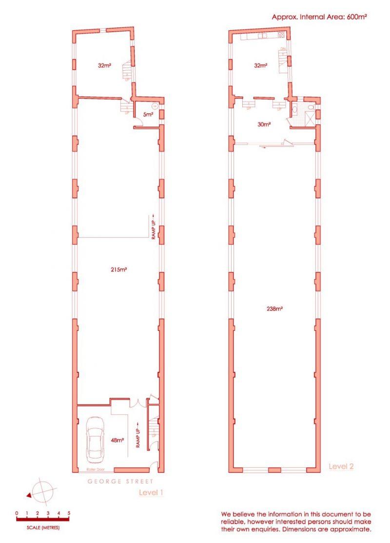 Plan du loft sur deux niveaux