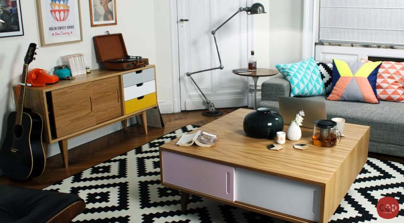 Table basse scandinave personnalisable
