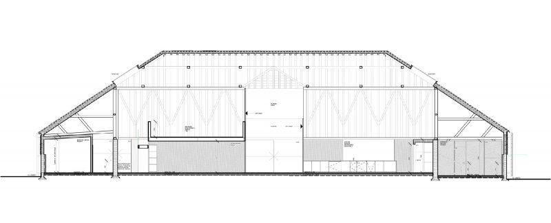 Plan de la grange transformée en loft