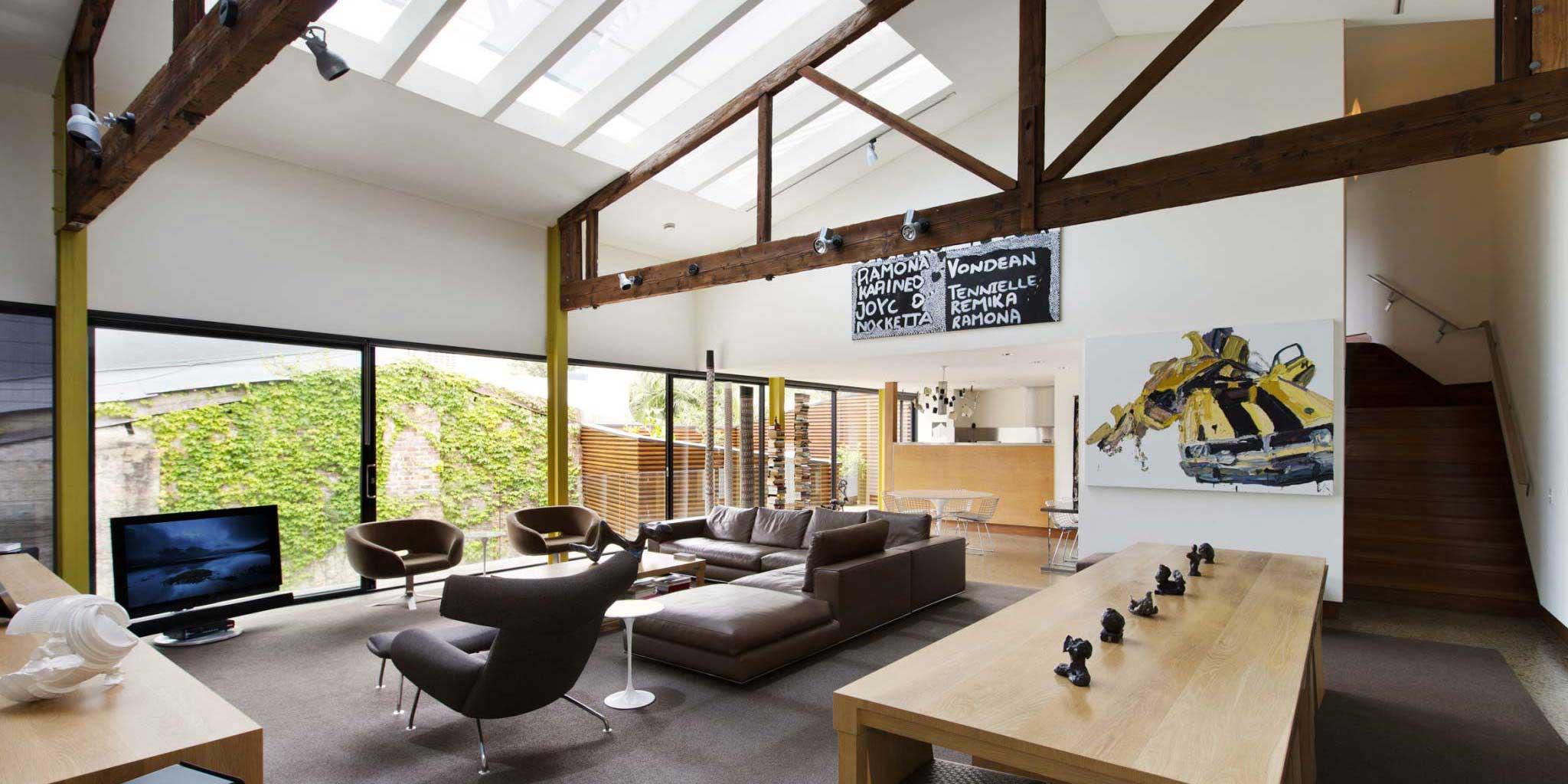 loft dans un entrep t sydney par jaa studio. Black Bedroom Furniture Sets. Home Design Ideas