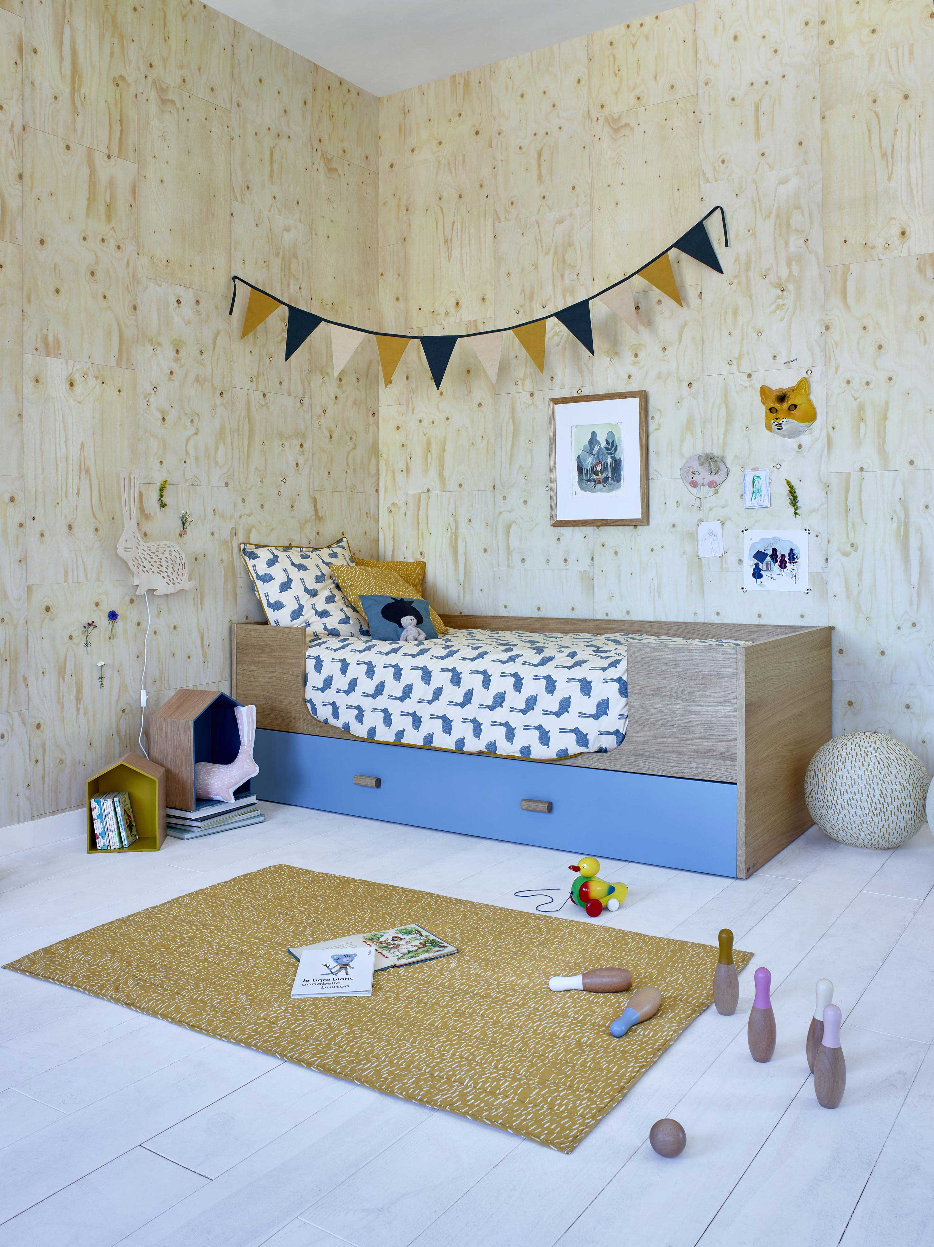 lit pour enfant avec tiroir. Black Bedroom Furniture Sets. Home Design Ideas