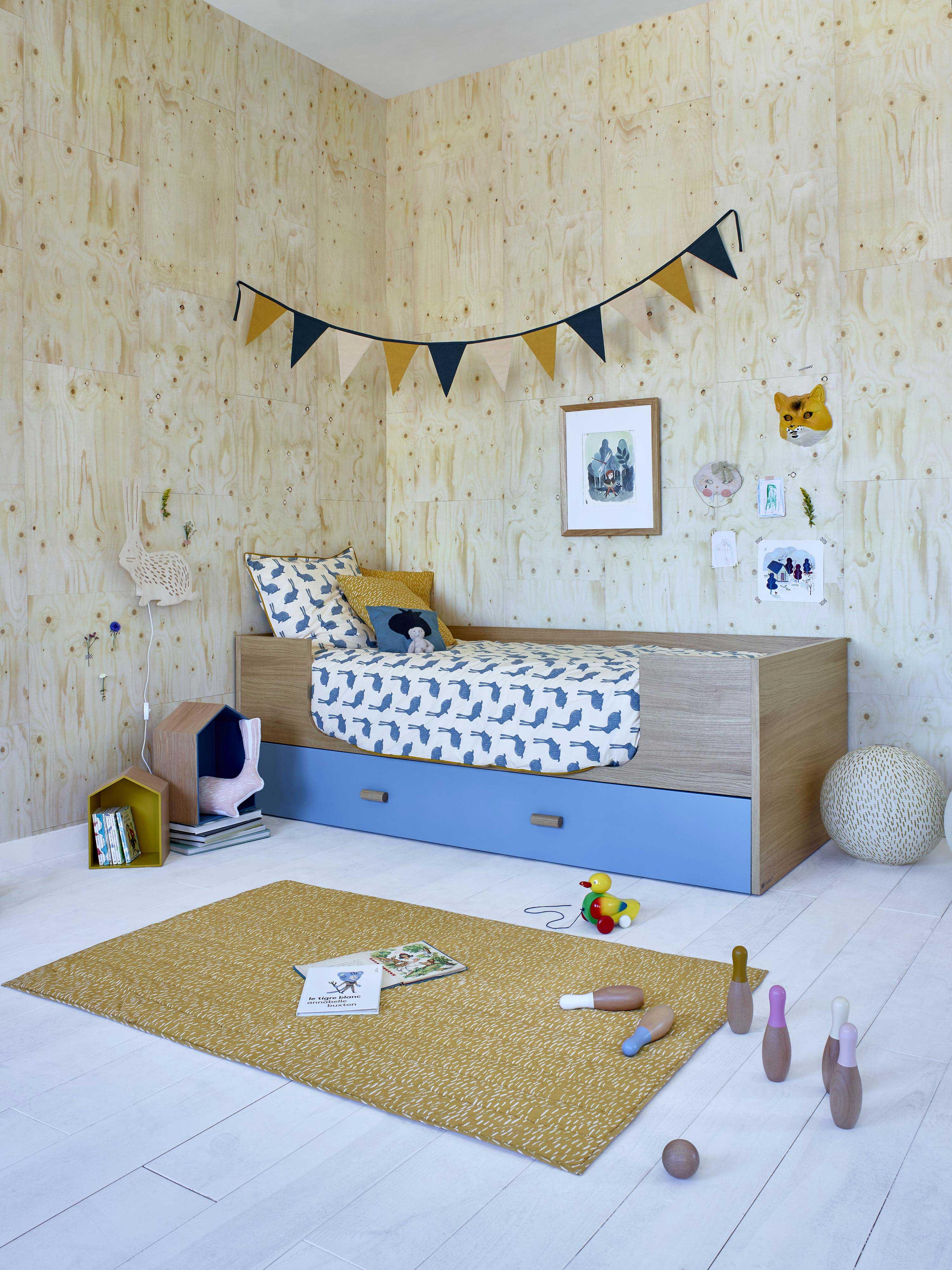 lit pour enfant avec tiroir. Black Bedroom Furniture Sets. Home Design Ideas