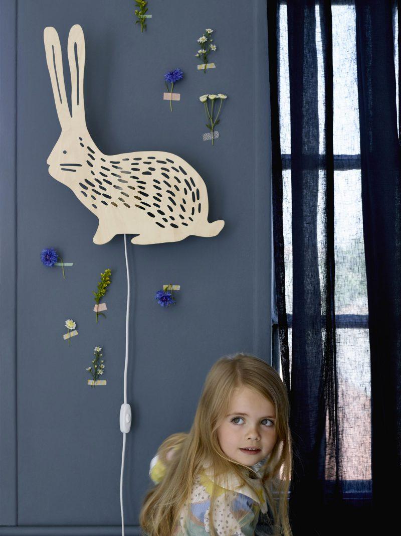 Applique lapin pour chambre d'enfant