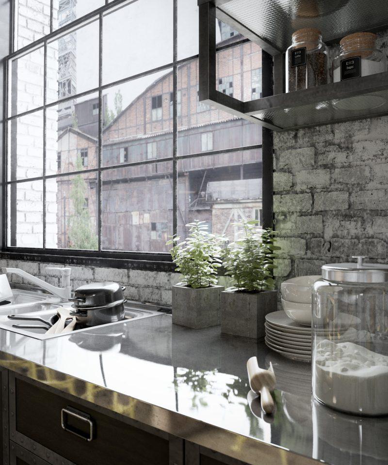 Rendu 3D de cuisine