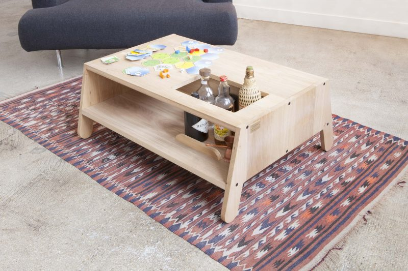 Table basse sur mesure en bois