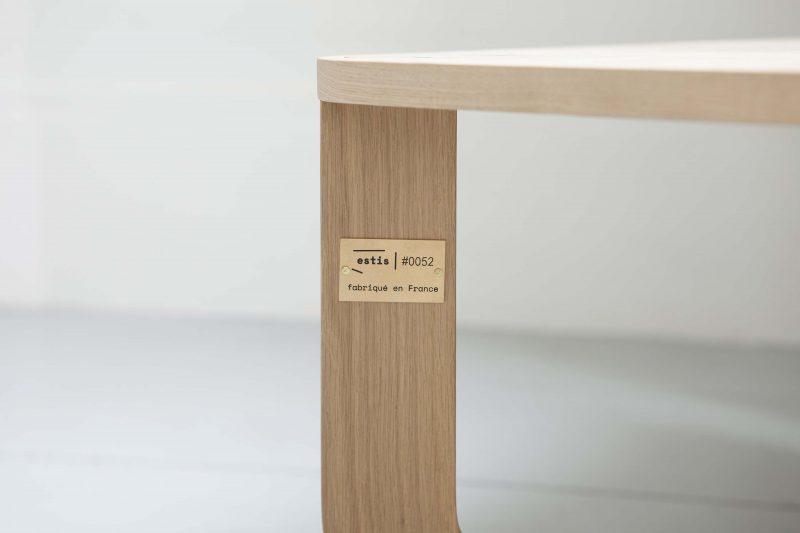 Table basse fabriquée en France