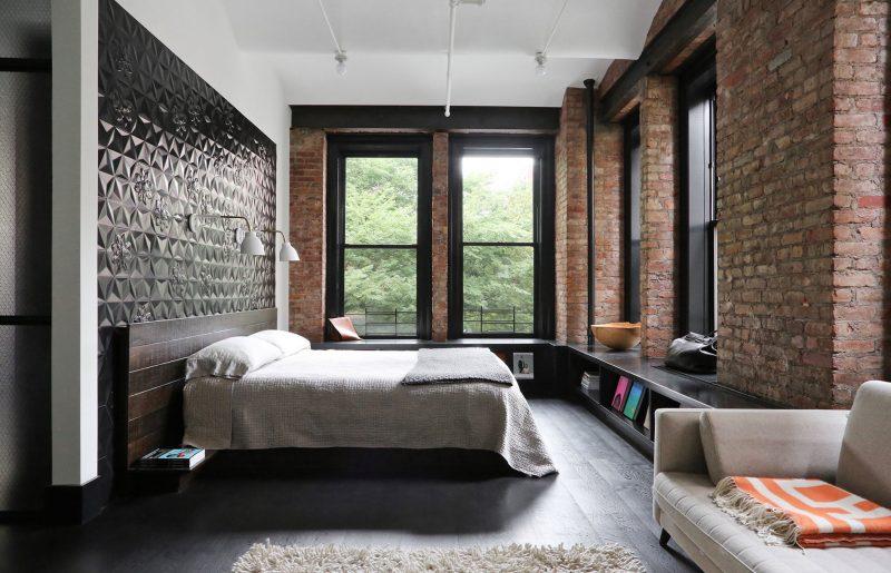 Chambre avec déco industrielle