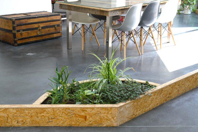 Jardinière intégrée dans le sol