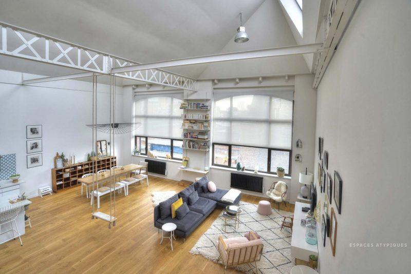 loft dans une ancienne filature roubaix. Black Bedroom Furniture Sets. Home Design Ideas