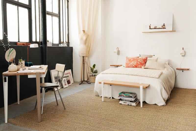 Chambre avec verrière d'atelier