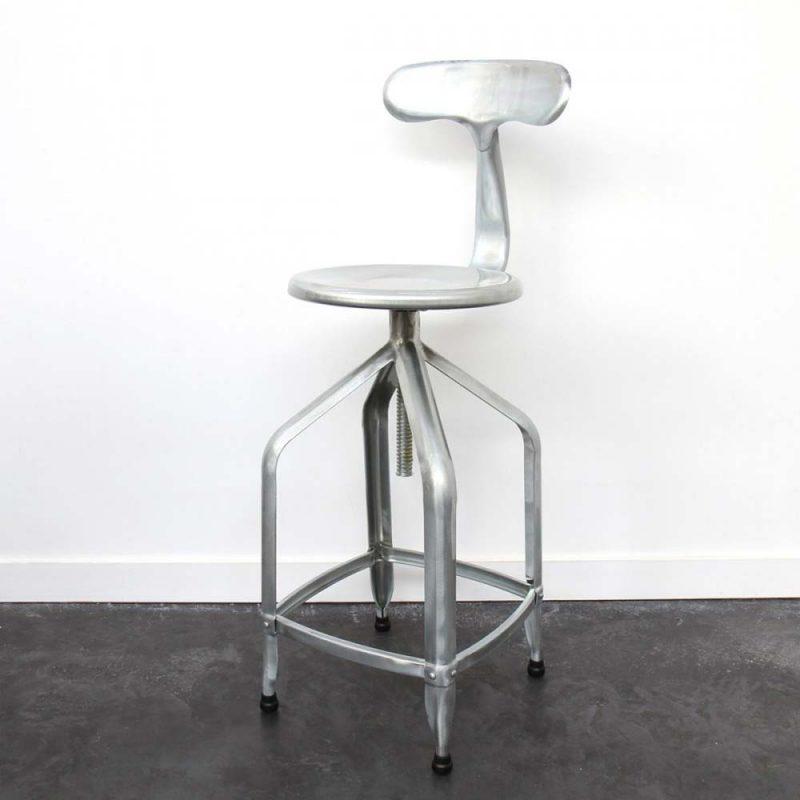 Chaise de bar en acier galvanisé